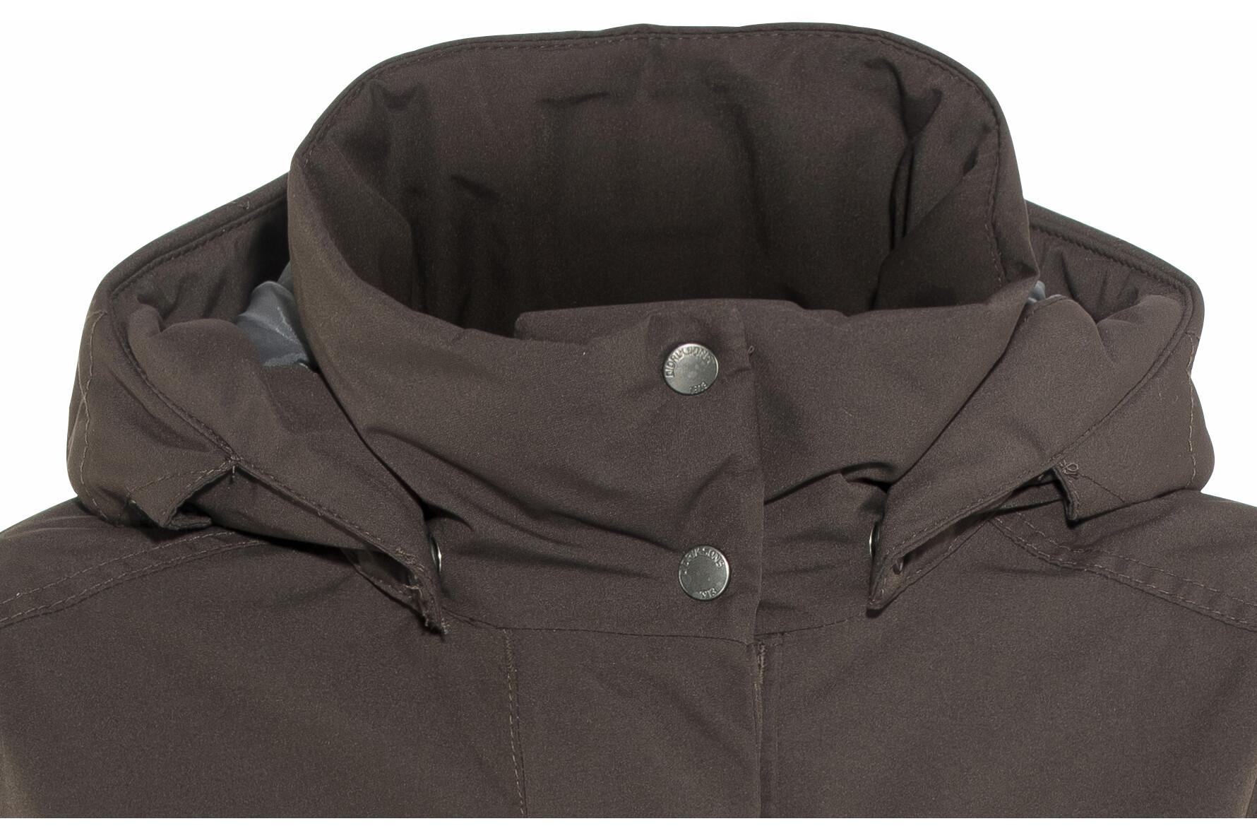 29ae10b9 Didriksons 1913 Eline Parka Damer, chocolate brown | Find outdoortøj ...